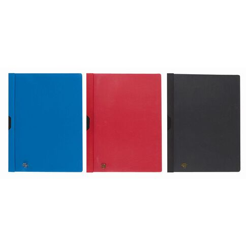 Office Supply Co Report Cover Click-In Black A4