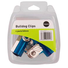Impact Bulldog Clips 40mm 4 Pack Assorted