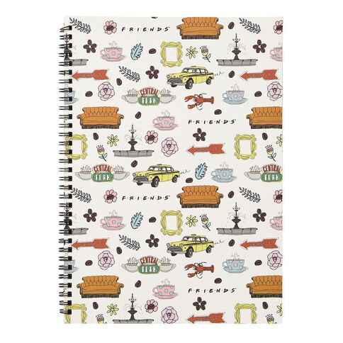 Warner Bros. Friends Softcover Notebook Iconic Images White A4