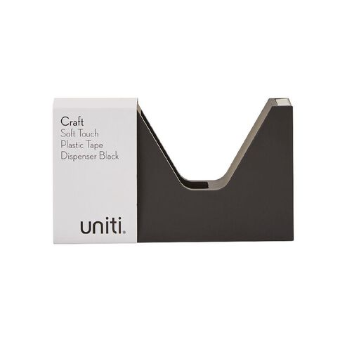Uniti Craft Soft Touch Plastic Tape Dispenser Black