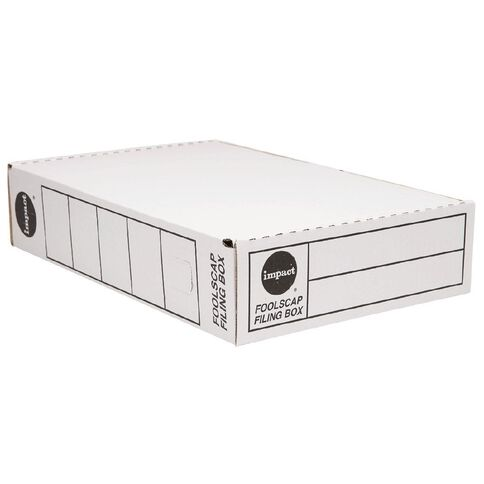 Impact Storage Box Foolscap White