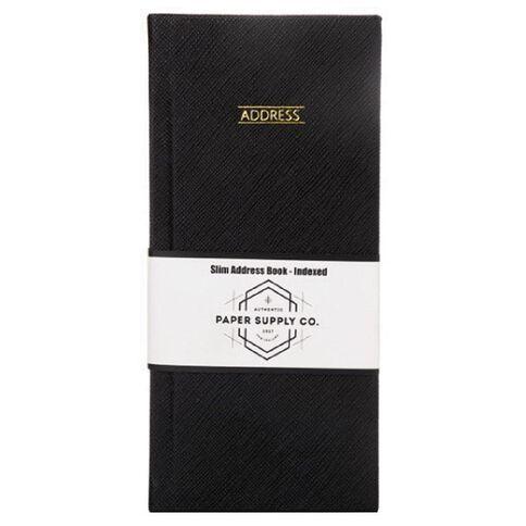 Paper Co Citta Slim Address Book Black