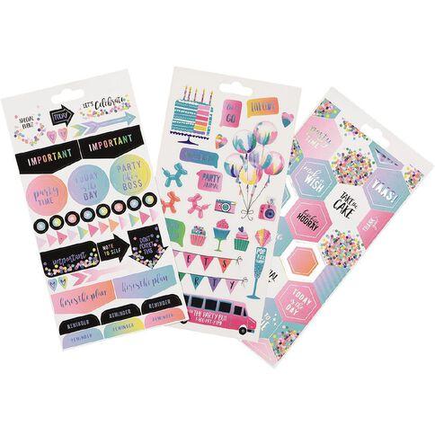 Uniti Sticker Book Celebration 16 Sheets