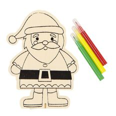 Wonderland Festive Colour Your Own Wooden Characters Assorted