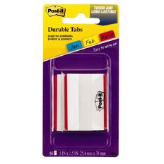 Post-It Durable Filing Tabs 686F-50Rd 50.8mm x 38.1mm Red