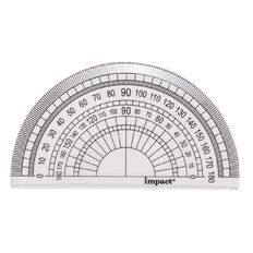 Impact Protractor 180 10cm Clear