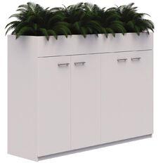 Mascot Planter Cabinet 4 Hinged Doors locking Snow Velvet 1200x1800