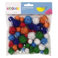 Kookie Glitter Pom Pom 70 Pack