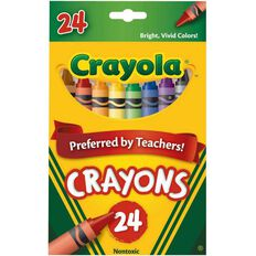 Crayola Crayons 24 Pack Multi-Coloured 24 Pack
