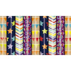 Roll Wrap 760mm x 5m Celebrate Assorted Multi-Coloured