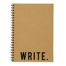 Uniti Craft Spiral Hardcover Notebook Natural A4