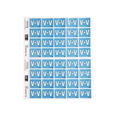 Filecorp Coloured Labels V Blue