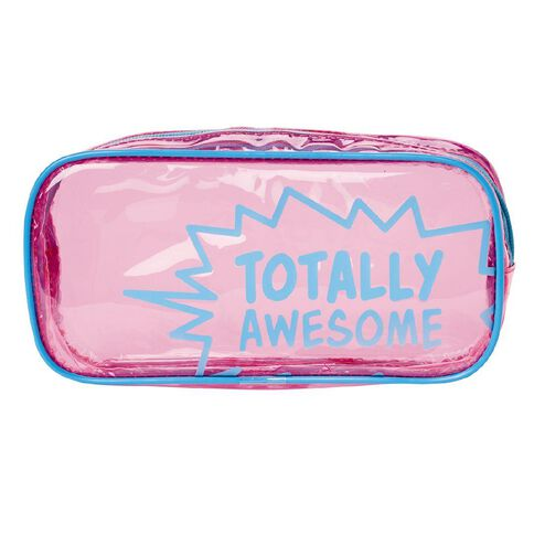 Impact Pencil Case Tube Transparent Pink