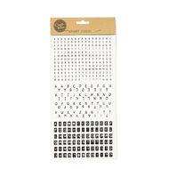 Uniti Alphabet Stickers Type Mini Black Assorted