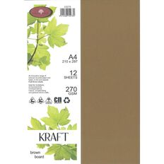 Direct Paper Enviro Board 270gsm 12 Pack Kraft Brown A4