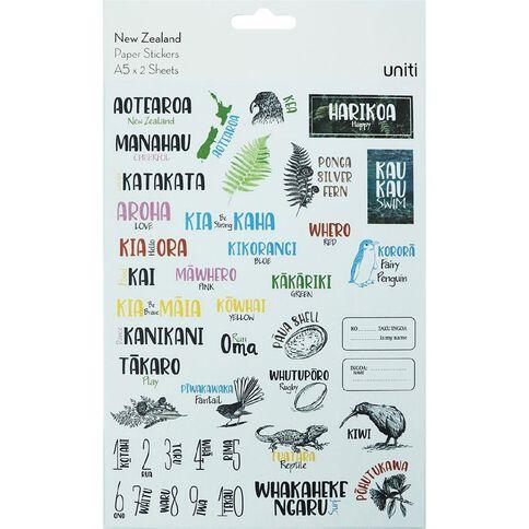 Uniti New Zealand Sticker Sheets