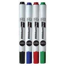 Impact Whiteboard Markers Chisel 4 Pack Assorted