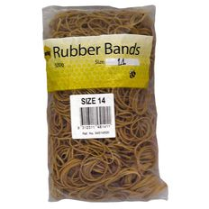 Marbig Rubber Bands 500g #14 Brown