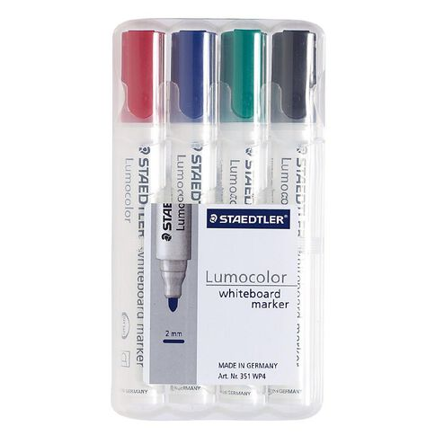 Staedtler Lumocolor Whiteboard Marker Bullet Wallet Of 4