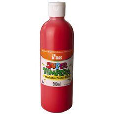 FAS Paint Super Tempera 500ml Brilliant Red 500ml