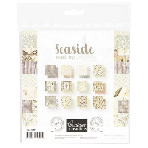 Couture Creations Seaside and Me Paper Pad 24 6in x 6in