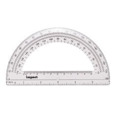 Impact Protractor 180 15cm Clear