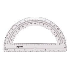 Impact Protractor 180 15cm