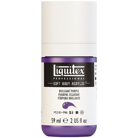 Liquitex Soft Body Acrylic 59ml Brilliant Purple S1