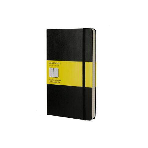 Moleskine Classic Hard Cover Large Notebook Squared Black