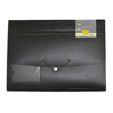 GBP Stationery Eco Expanding File 12 Pocket Black