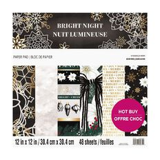 Craft Smith Christmas Pad Bright Night 48 Sheets 12in x 12in