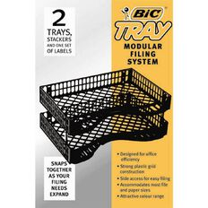 Bic Letter Trays 2 Pack Black