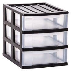 Taurus Storage Drawers A4 Grey 3 Tier