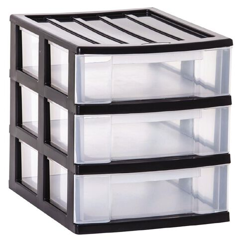 Taurus Storage Drawers A4 Grey 3 Tier