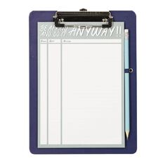 Uniti Empowerment Magnetic Clipboard With Notepad and Pencil Green