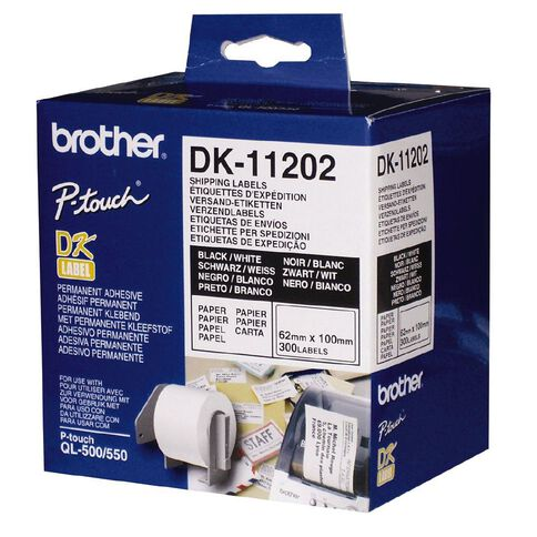 Brother Label Tape Dk11202 62mm x 100mm