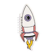 Kookie Space Shaped Notepad Rocket White
