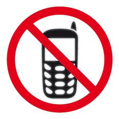APLI Self Adhesive No Mobile Phone Black