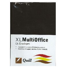Quill Multioffice Envelopes C6 25 Pack Black