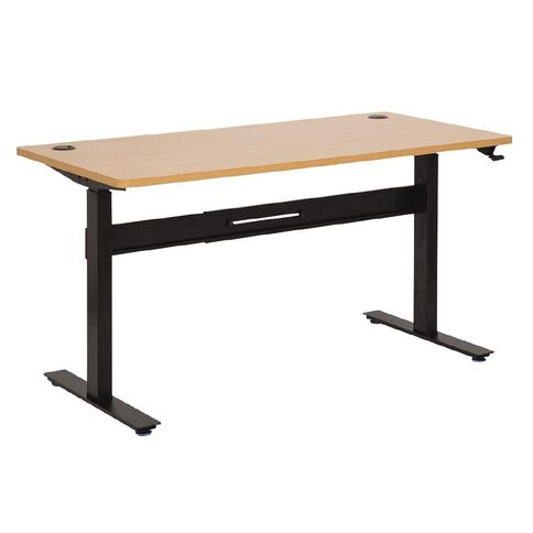 Jasper J Emerge 1500 Straight Pneumatic Desk Beech/Ironstone