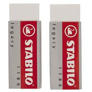 Stabilo Legacy Eraser 2 Pack White