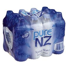Pure NZ Spring Water 600ml 12 Pack