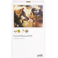 Uniti Crystal Art 35x45cm Wolf Beauty