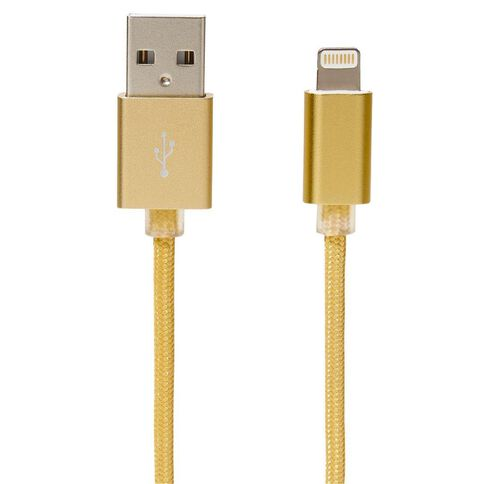 Lightning Cable Braided 1m Pastel Geo Gold