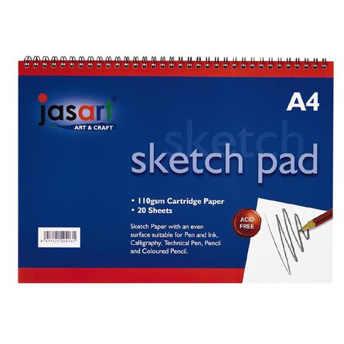Jasart Sketch Pad Spiral 20 Sheet A4