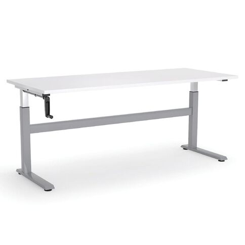 Cubit Height Adjustable Desk 1500 White/Silver