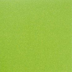 American Crafts Cardstock Glitter Medium 12 x 12 Neon Green