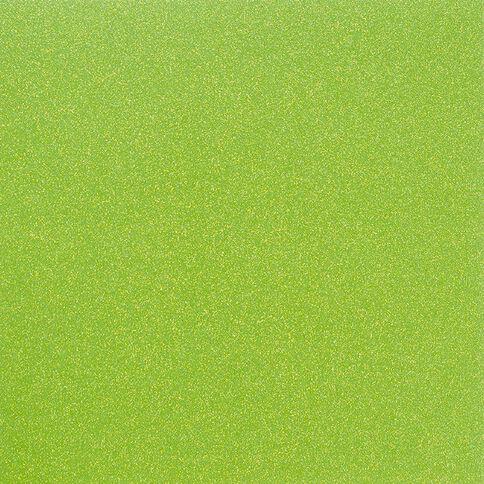 American Crafts Cardstock Glitter Medium 12 x 12 Neon Green