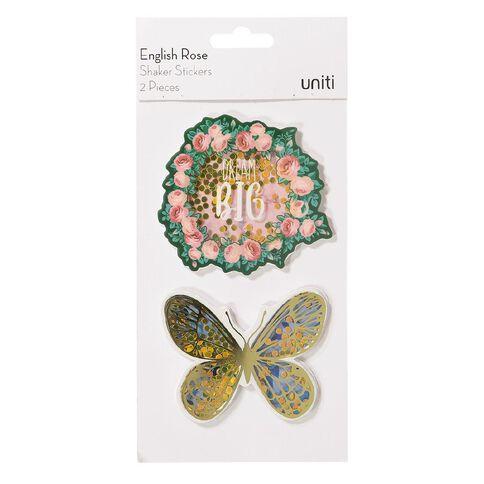 Uniti English Rose Shaker Stickers