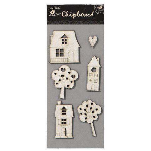 Little Birdie Chipboard Collection Assorted
